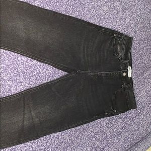 Faded black high waisted skinny jeans